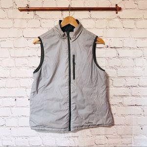L.L. Bean grey reversable vest #149